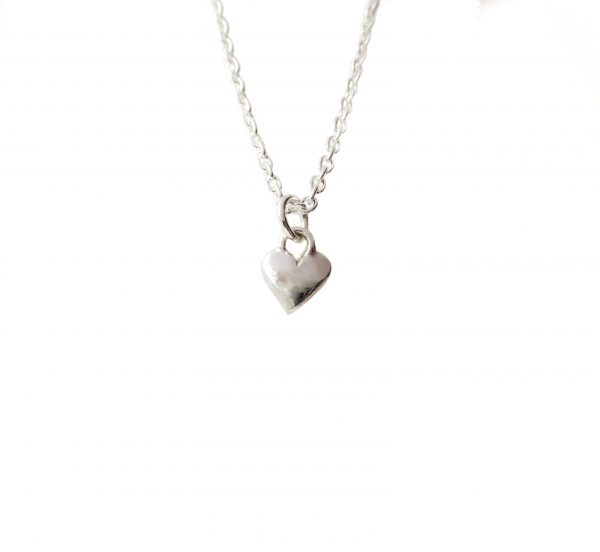 Handcrafted small sterling silver heart