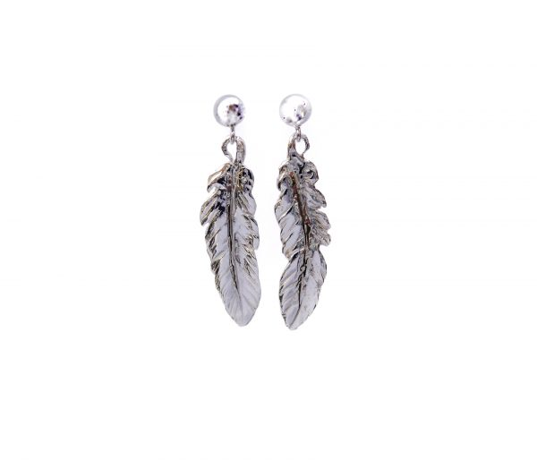 Handmade sterling silver feathers