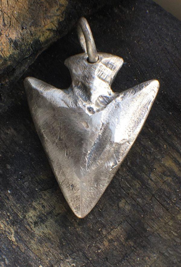 Solid silver arrowhead