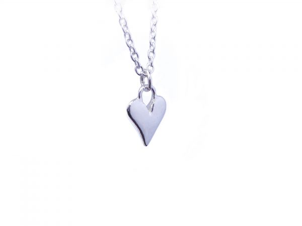 Hand crafted sterling silver heart